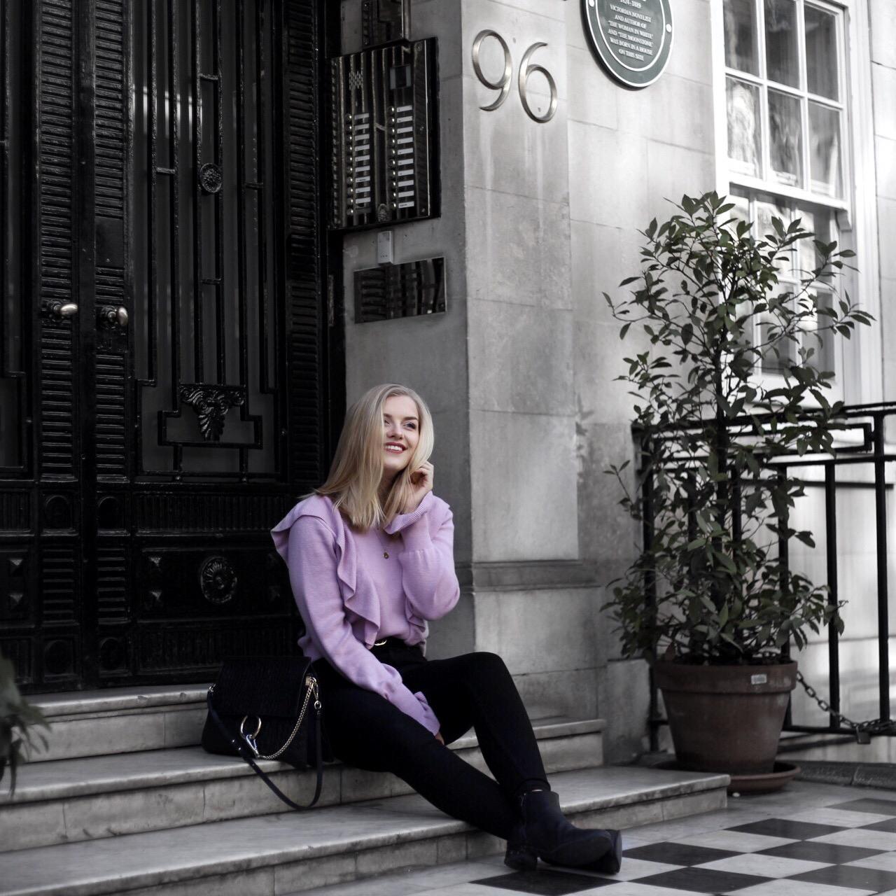 Eva Jasmin Volant ruffles style London street style
