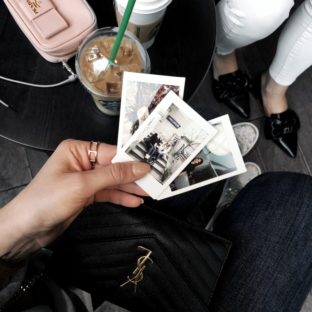 blogger Prada saint laurent polaroid style inspiration