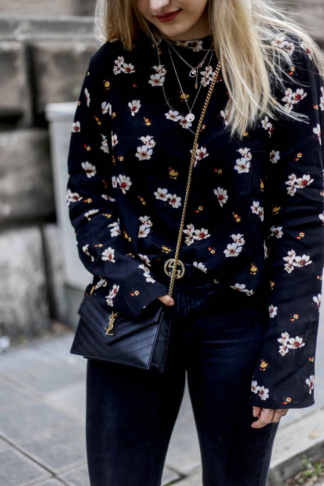Eva Jasmin ootd street style flower nuremberg print ysl Gucci Princetown