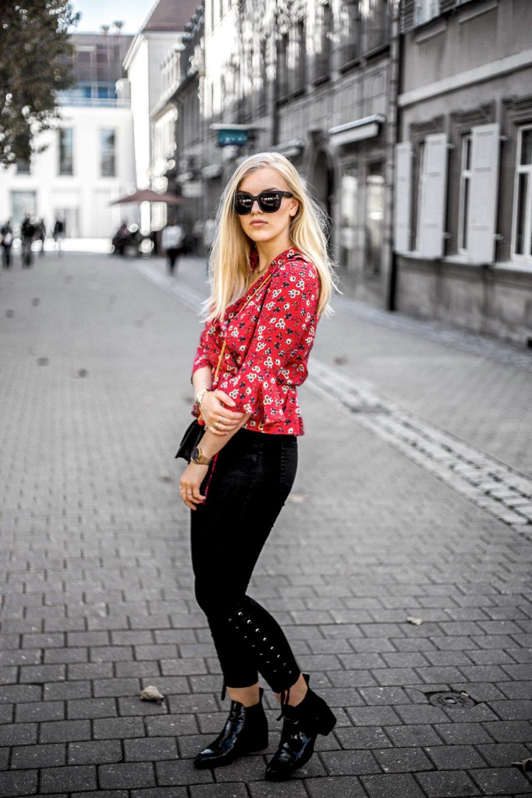 blogger street style lash extensions ootd red ysl Eva Jasmin