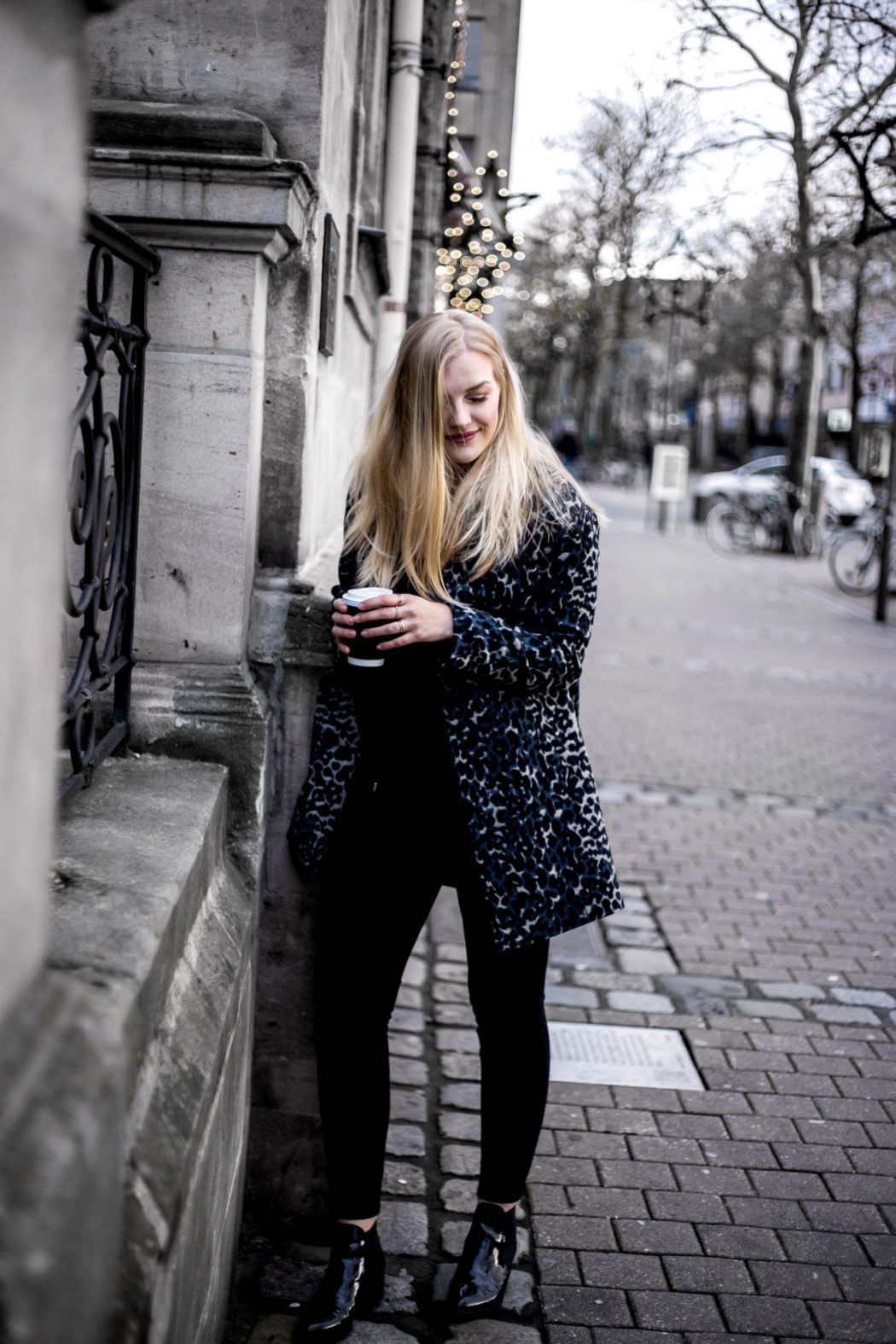 leo print street style ootd blogger chloe faye trend