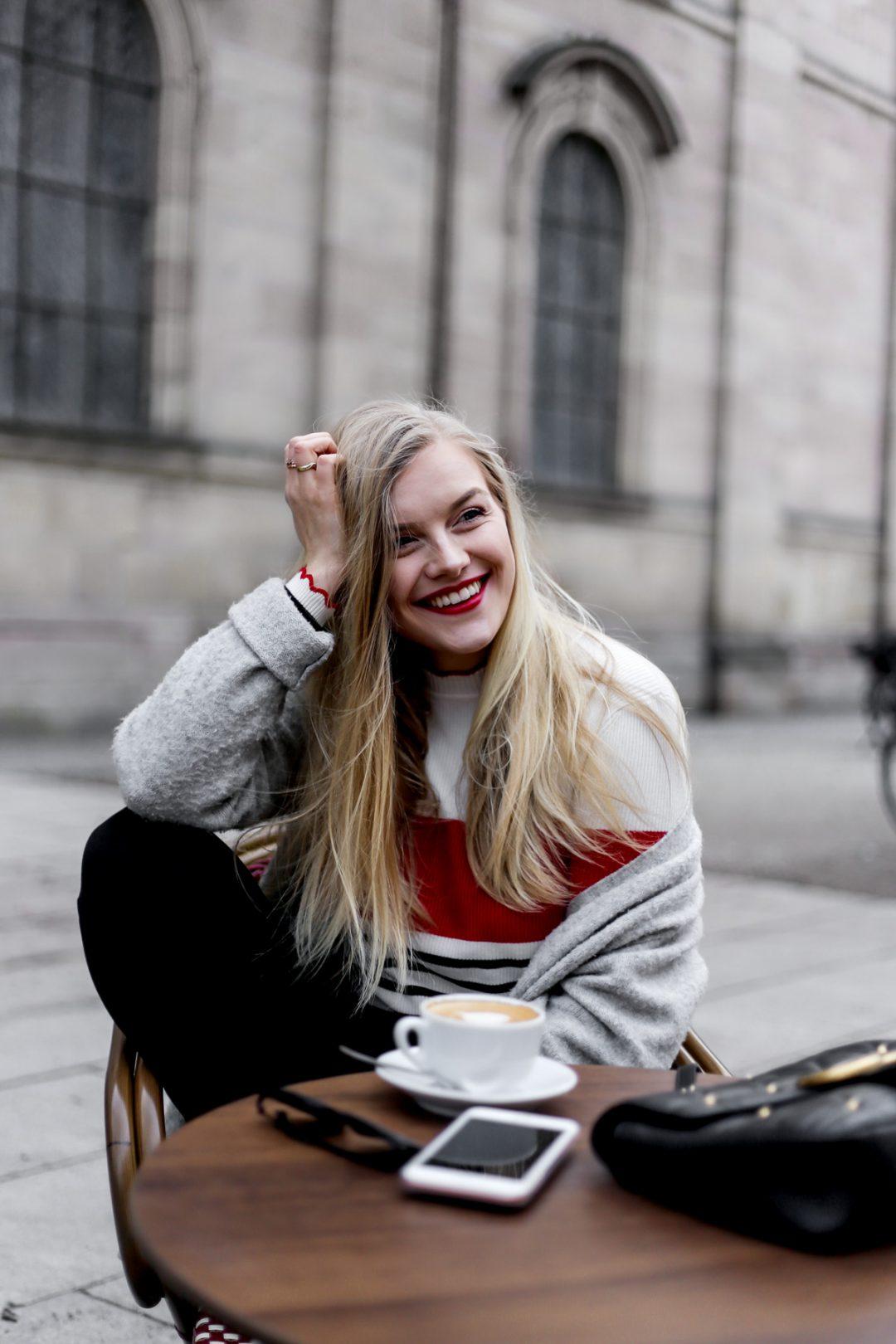 Eva Jasmin Happiness Coffee ootd streetstyle stripes gucci marmont track pants